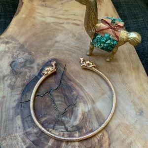 Banana Republic Gold Camel Bangle Cuff Bracelet